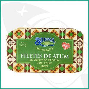 Lata conserva de Atún en filetes con aceite de oliva, Frijoles