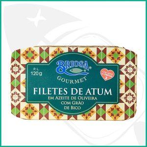 Lata conserva de Atún en filetes con aceite de oliva y garbanzos
