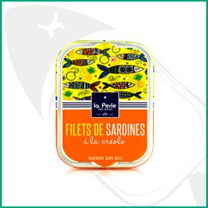 Filetes de Sardinas sin aceite, á la Créole, con piña y pasas