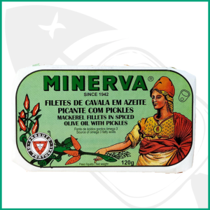 Lata conservas Filetes de caballa con Aceite Picante y Encurtidos