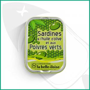 Conserva de Sardinas en aceite de oliva y pimienta verde