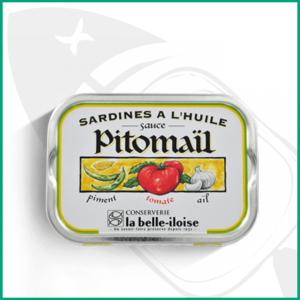 Conserva de Sardinas en aceite y salsa Pitomail
