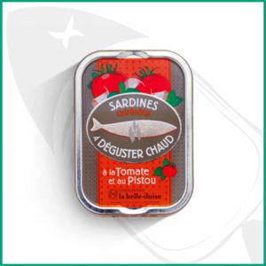 Conserva de Sardinas para degustar en caliente con Tomate y Pisto