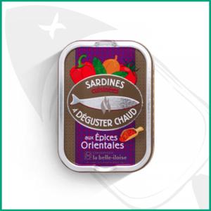 Lata de Sardinas para degustar en caliente con especias orientales