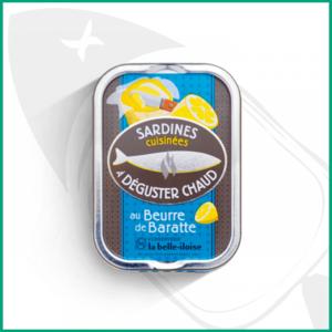 Sardinas para degustar en caliente con mantequilla batida