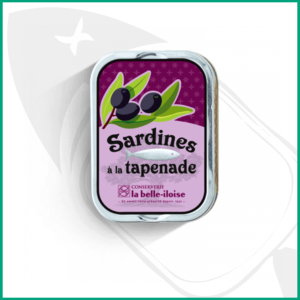 Conserva de Sardinas con puré de olivas negras y anchoas