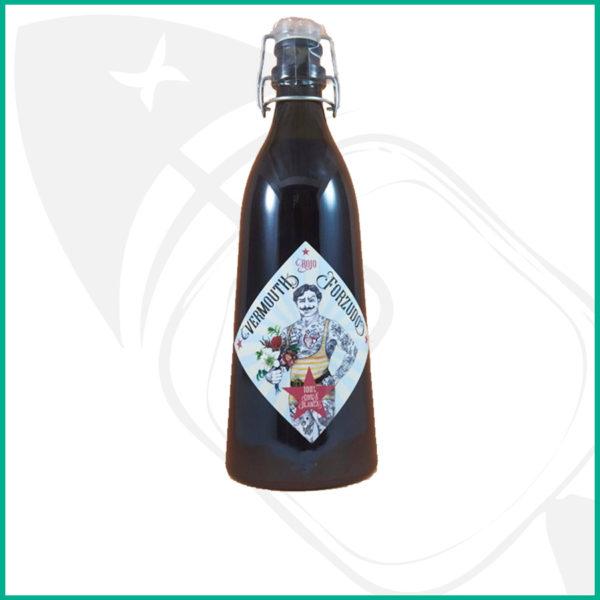Vermouth premium rojo El Forzudo. Vermouth rojo del Bierzo en botella de 1L