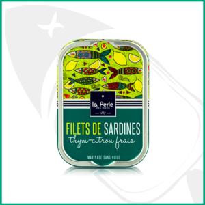 Conserva Filetes de sardina sin aceite con Tomillo-limón