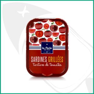 Sardinas a la brasa con tartar de tomate