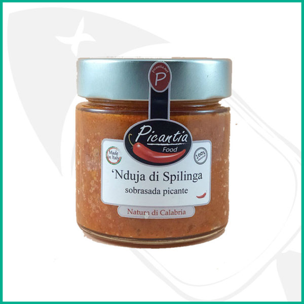 Sobrasada picante denominada Nduja de Spilinga, embutido para untar típico de Calabria