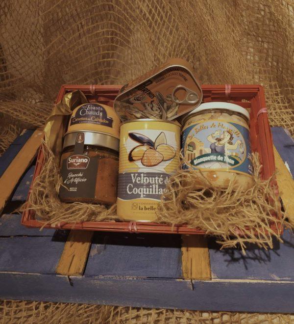 cesta regalo para el papa cocinero , desoertará su creatividad con conservas internacionales