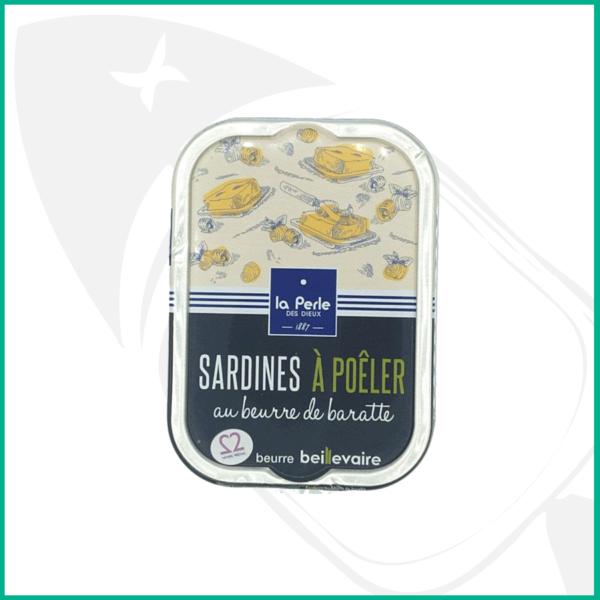 Sardinas para calentar con mantequilla batida de Beillevaire