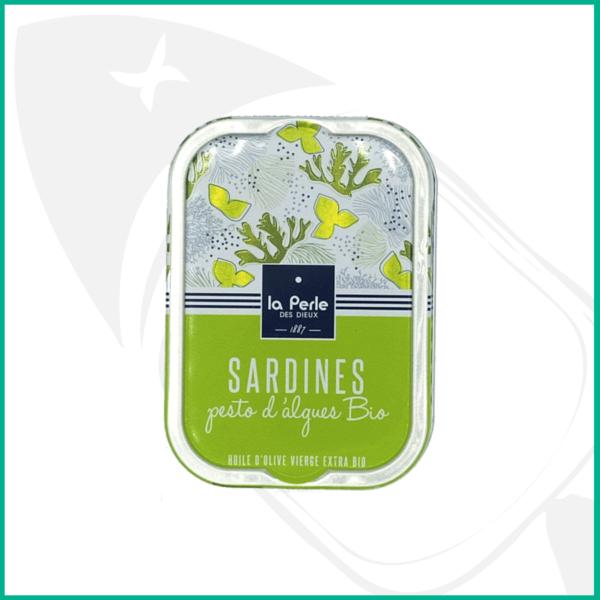 Sardinas con pesto de algas ecológicas